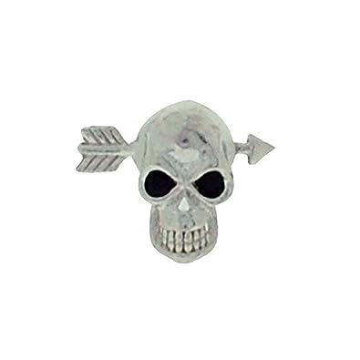 d2551a8cf7f42 Amazon.com: Jakob Strauss Mens Sterling Silver Skull & Crossbow ...