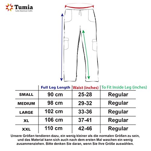 Ecuador Cotone Leggero Estate Immagine Gehandelt Pantaloni Vita Elastico In nbsp;nbsp;realizzata Turchese Materiale Ethisch Tumi 4BqXzwvw