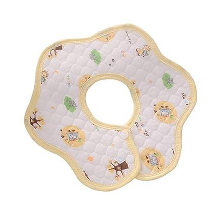 Mitlfuny Baberos para Bebés Rotación de 360 Grados Babero on forma de flor Pañuelo Paños de