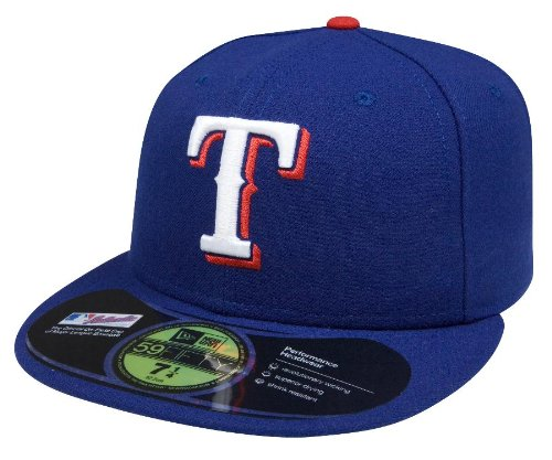 finest selection ed478 49dbd Amazon.com   MLB Texas Rangers Authentic On Field Game 59FIFTY Cap, Royal    Sports Fan Baseball Caps   Clothing