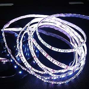 White/Warm White Led Strip Light Waterproof 5M SMD 5050 300 LEDs/Roll , Warm White