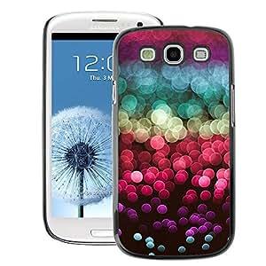 A-type Arte & diseño plástico duro Fundas Cover Cubre Hard Case Cover para Samsung Galaxy S3 (Glitter Sea Sun Reflection Red Purple)