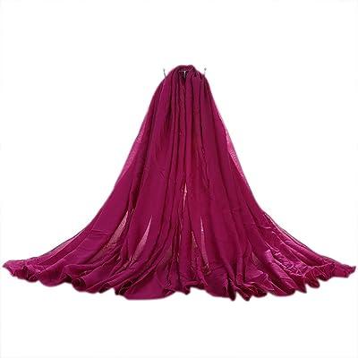 Da.Wa Accessoires de vêtements pour femmes printemps et l'automne écharpe en coton fuchsia style simple