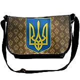 Lov6eoorheeb Unisex Coat Of Arms Of Ukraine Wide Diagonal Shoulder Bag Adjustable Shoulder Tote Bag Single Shoulder Backpack For Work,School,Daily