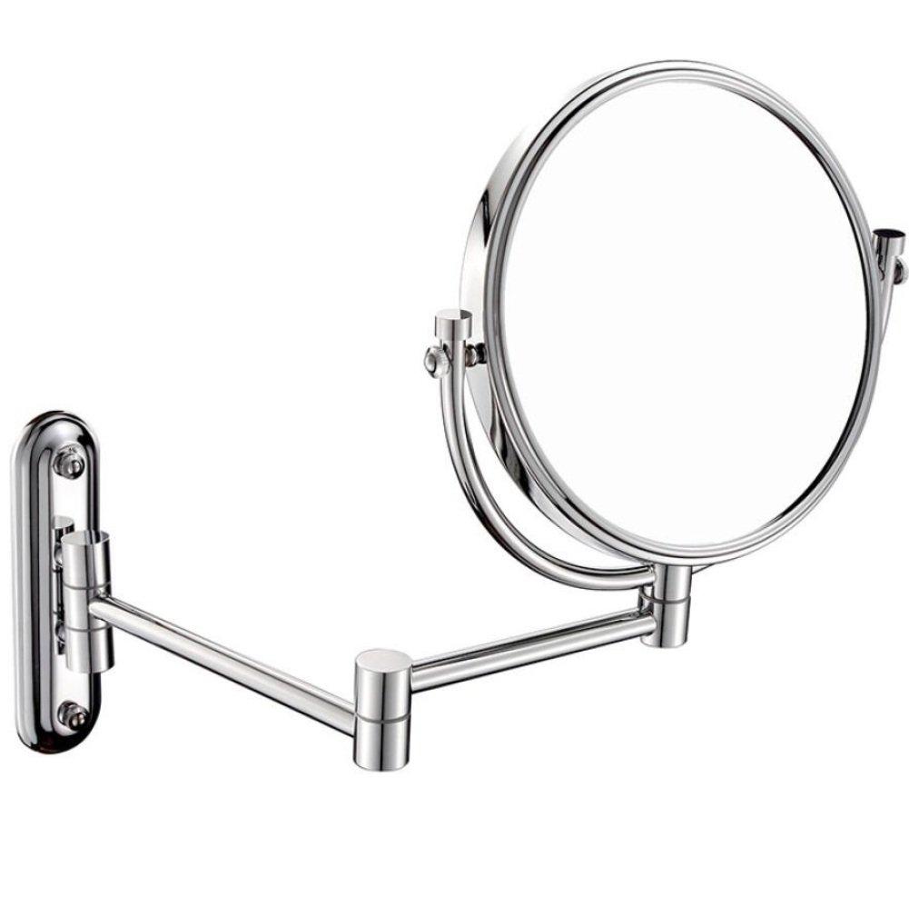 LIUJIANGLONG Specchio cosmetico da Parete Specchio cosmetico da Parete Specchio cosmetico a Rotazione su Entrambi i Lati ingranditore 1x / 10x, Silver liujianglong.com