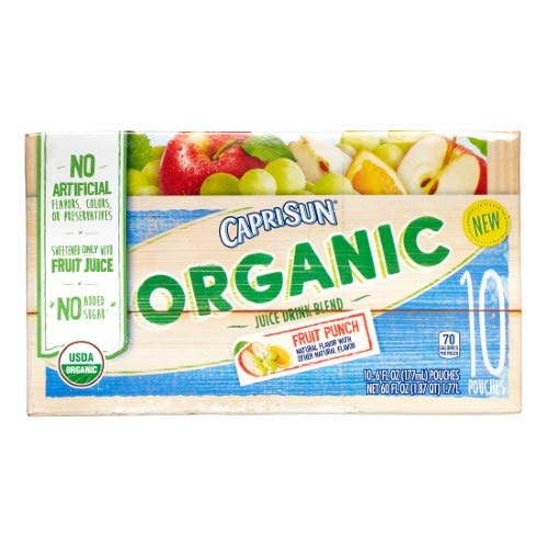 - Capri Sun Organic Juice Pouches, Fruit Punch (Pack of 2)