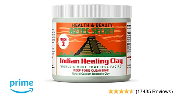 Aztec Secret - Indian Healing Clay - 1 lb  | Deep Pore Cleansing Facial &  Body Mask | The Original