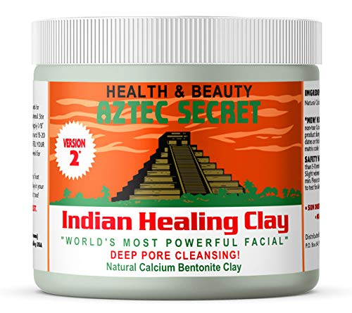 Aztec Secret - Indian Healing Clay 1 lb - Deep Pore Cleansing Facial & Body Mask - The Original 100% Natural Calcium Bentonite Clay - New Version 2 (Best Way To Reduce Acne Scars)