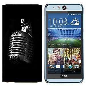 EJOOY---Cubierta de la caja de protección para la piel dura ** HTC Desire Eye M910x ** --Micrófono retro Micrófono
