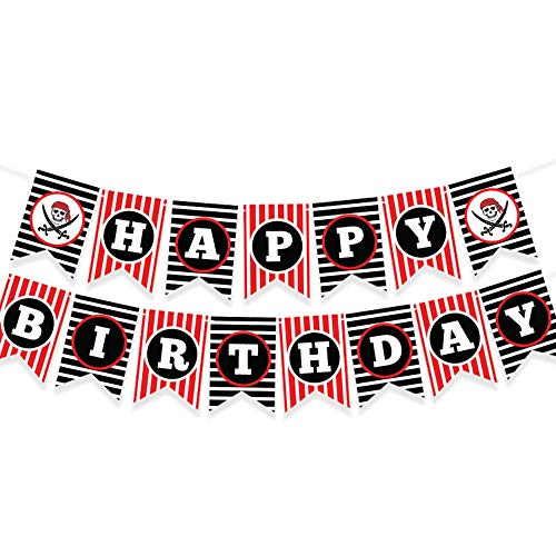 PIRATE THEMED HAPPY BIRTHDAY BANNER - Pirate party supplies - pirate decorations - pirate birthday party supplies - pirate party - pirate pinata - pirate party favors - pirate birthday party - pirate theme party supplies - pirate decorations party - pirate banner - pirate party supplies for kids birthday - pirate birthday decorations - pirates party supplies - pirate decoration - pirate treasure - treasure chest party - pirate bandana party - pirate swords party - pirate parties ()