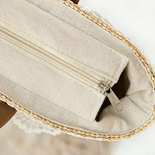 en Sac Sac à SAWEY bandoulière Sac à Main Main Messager Sac bandoulière 1 de 3 de Style décontracté tissé de à Style à Mode Sac wxvgnIdqg