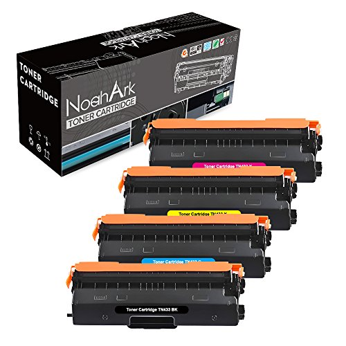 NoahArk Compatible TN433 TN431 Toner Cartridge for Brother HL-L8360CDW HL-L8360CDWT HL-L8260CDW MFCL8900CDW MFCL8610CDW MFCL9570CDW MFC-L8900CDW MFC-L8610CDW HL-L9310CDW-New High Yield 4 Pack (BCMY) by NoahArk