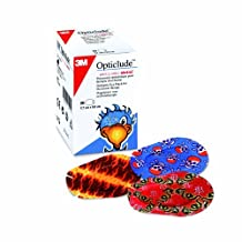 Opticlude Boys and Girls Orthoptic Maxi Size Eye Patch Pack of 50 by 3M Opticlude