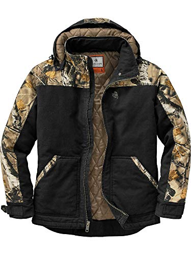 Legendary Whitetails Men's Canvas Cross Trail Big Game Camo Workwear Hooded Jacket