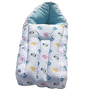 Amardeep and Co Baby Sleeping Bag Cum Baby Carry Bag (Blue)