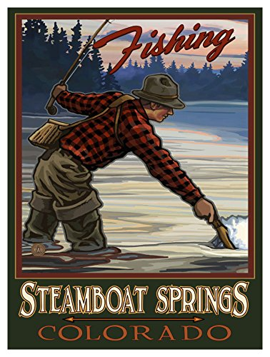 Steamboat Springs Colorado Travel Art Print Poster by Paul A. Lanquist (9