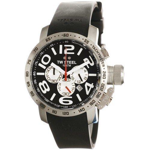 TW Steel Grandeur TW-40 - Reloj de caballero de cuarzo, correa de piel color negro: Amazon.es: Relojes