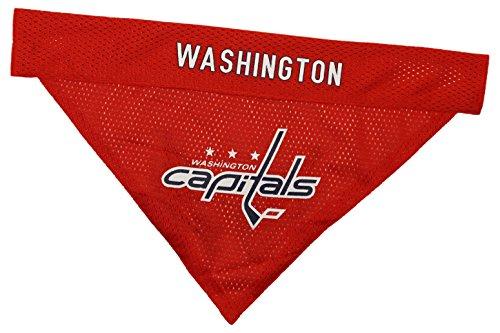 NHL Washington Capitals Bandana for Dogs & Cats, Small/Medium. - Cute & Stylish Bandana! The Perfect Hockey Fan Scarf Bandana, Great for Birthdays or Any -