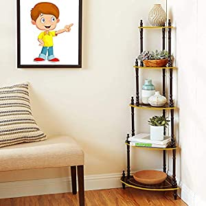 5 Shelve Wall Corner Stand / Floor Standing