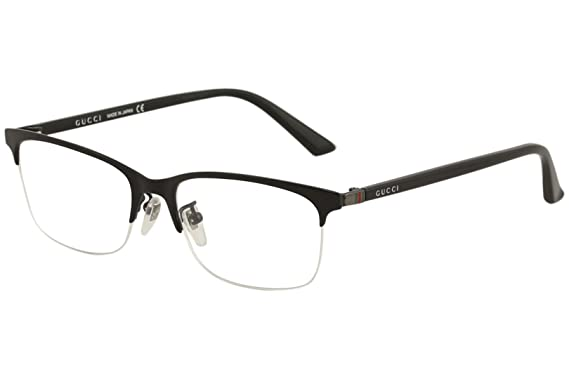 392e3ab319533 Gucci Men s Eyeglasses GG0132OJ GG 0132 OJ 001 Black Titanium Optical Frame  56mm