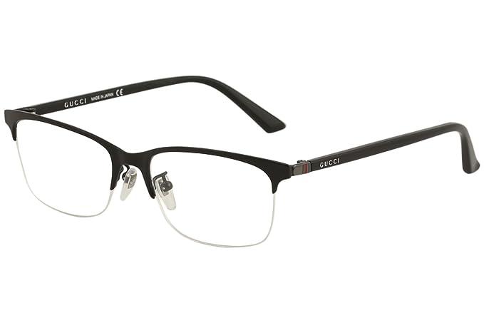 606ccaa0474b Gucci Men's Eyeglasses GG0132OJ GG/0132/OJ 001 Black Titanium Optical Frame  56mm: Amazon.ca: Clothing & Accessories