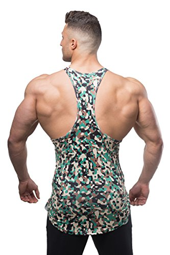 Jed North Bodybuilding Tank Top Gym Stringer Y Back Muscle Racerback