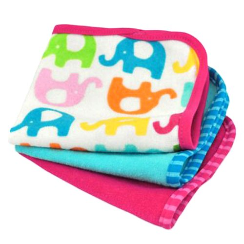 - green sprouts Brights Organic Terry Washcloth, Assorted Fuchsia Print One Size, 2 Count