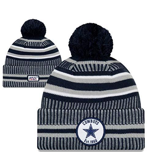 New Era NFL Dallas Cowboys Sport Cuff Knit Hat Skull Cap Beanie (Dallas New Era Beanie)