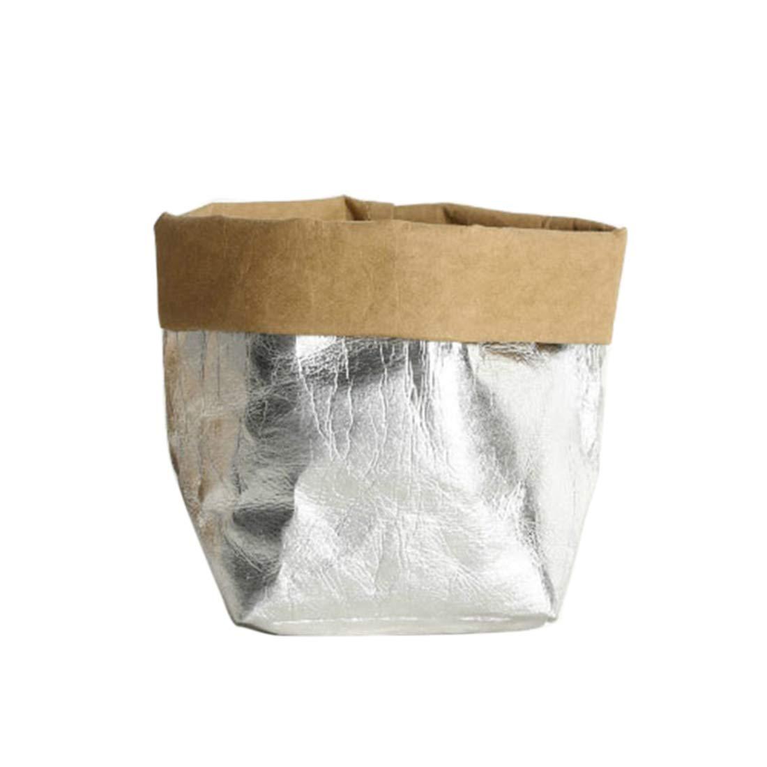 XINGYUE Washable Kraft Paper Bag Plant Flowers Pots Multifunction Home Storage Bag Reuse