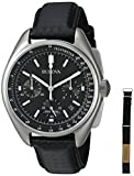 Bulova Men's 96B251 Chronograph Stainless Steel and Leather Strap Deal