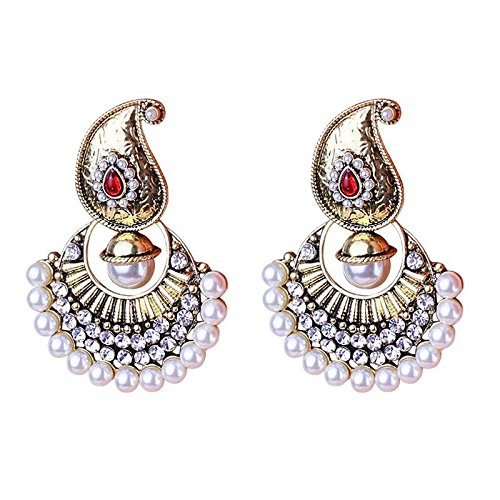 UltraSunday Queen Palace Luxury Vintage Antique Big Rhinestone Pearl Earrings Jewelry e I1P6