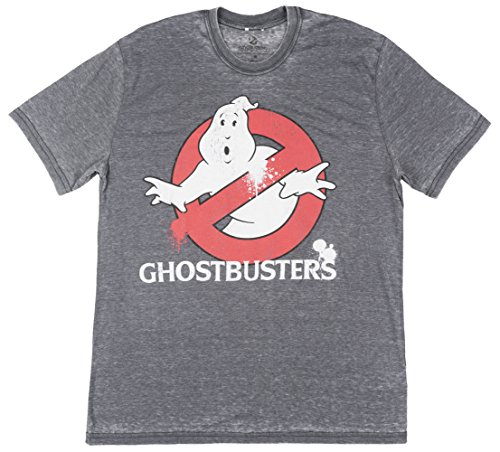 Ghostbusters Distressed Mens T-Shirt in Slate