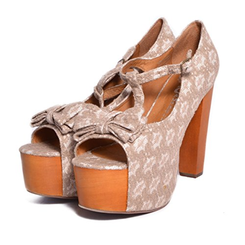 JEFFREY CAMPBELL Foxy Luanne Lace Pigskin White Grey