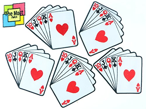 lot-of-6-5-1-poker-card-playing-straight-hand-embroider-iron-sew-on-patch-royal-flush