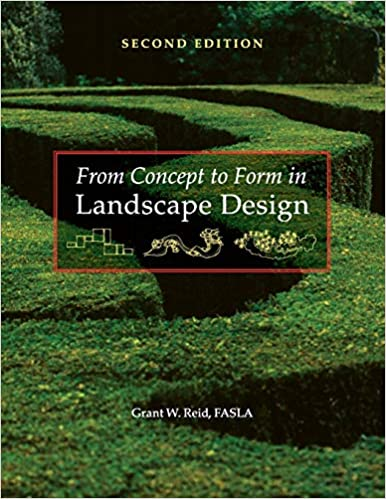 From Concept To Form In Landscape Design Grant W Reid