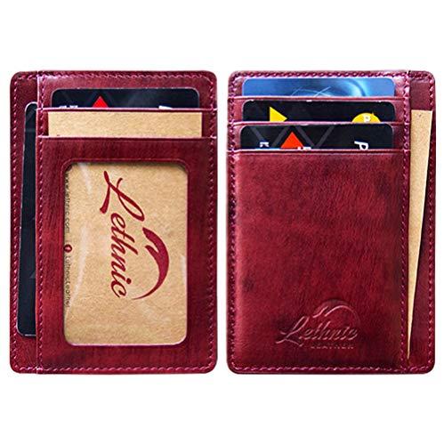 Wallets Amp Holders Lethnic Slim Wallet Rfid Front Pocket