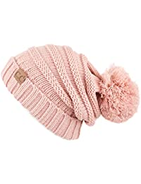 00250b0364d021 CC Exclusives Unisex Oversized Slouchy Beanie with Pom (HAT-6242POM)