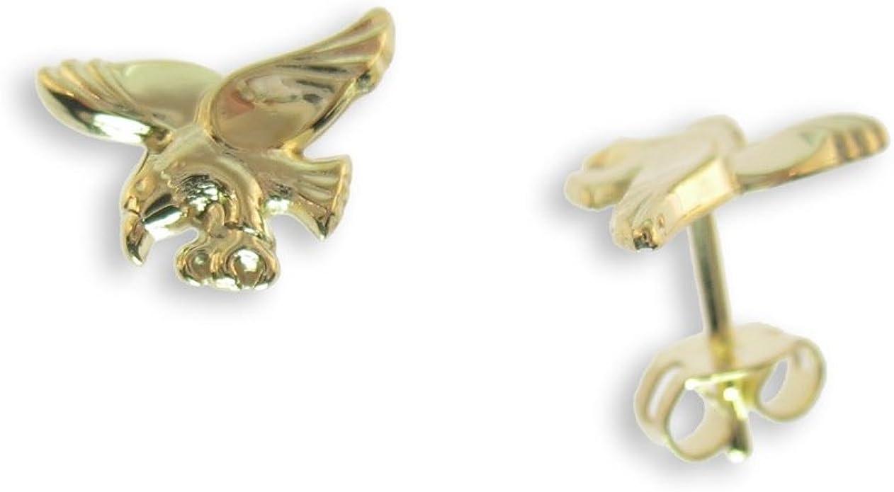 Herrenohrring Adlerkopf Adler Stecker Gold 585 Ohrring für Herren Greifvogel