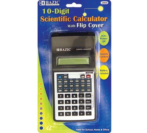 BAZIC 10-Digit Scientific Calculator w/ Flip Cover (Case of 48) by Bazic