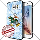 img - for NEW University of Miami Hurricanes Logo NCAA #1301 Samsung Galaxy S6 Smartphone Case Cover Collector TPU Rubber [by Lucky9Cover - Also available for S6 EDGE , mail to us ] [Snow] book / textbook / text book