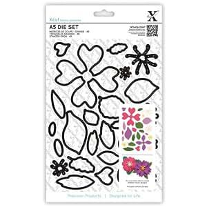 xcut A5 Die Set, Flowers, 24-Pack