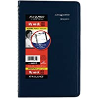 AT-A-GLANCE 2018-2019 Academic Year Weekly Planner, Small, 4-7/8 x 8, DayMinder, Color Will Vary (AY4110)