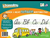 "Channie's Quick & Neat Cursive Handwriting Pad, 80 Pages Front & Back, 40 Sheets, Grades 1st – 3rd, Size 8.5"" x 11"""