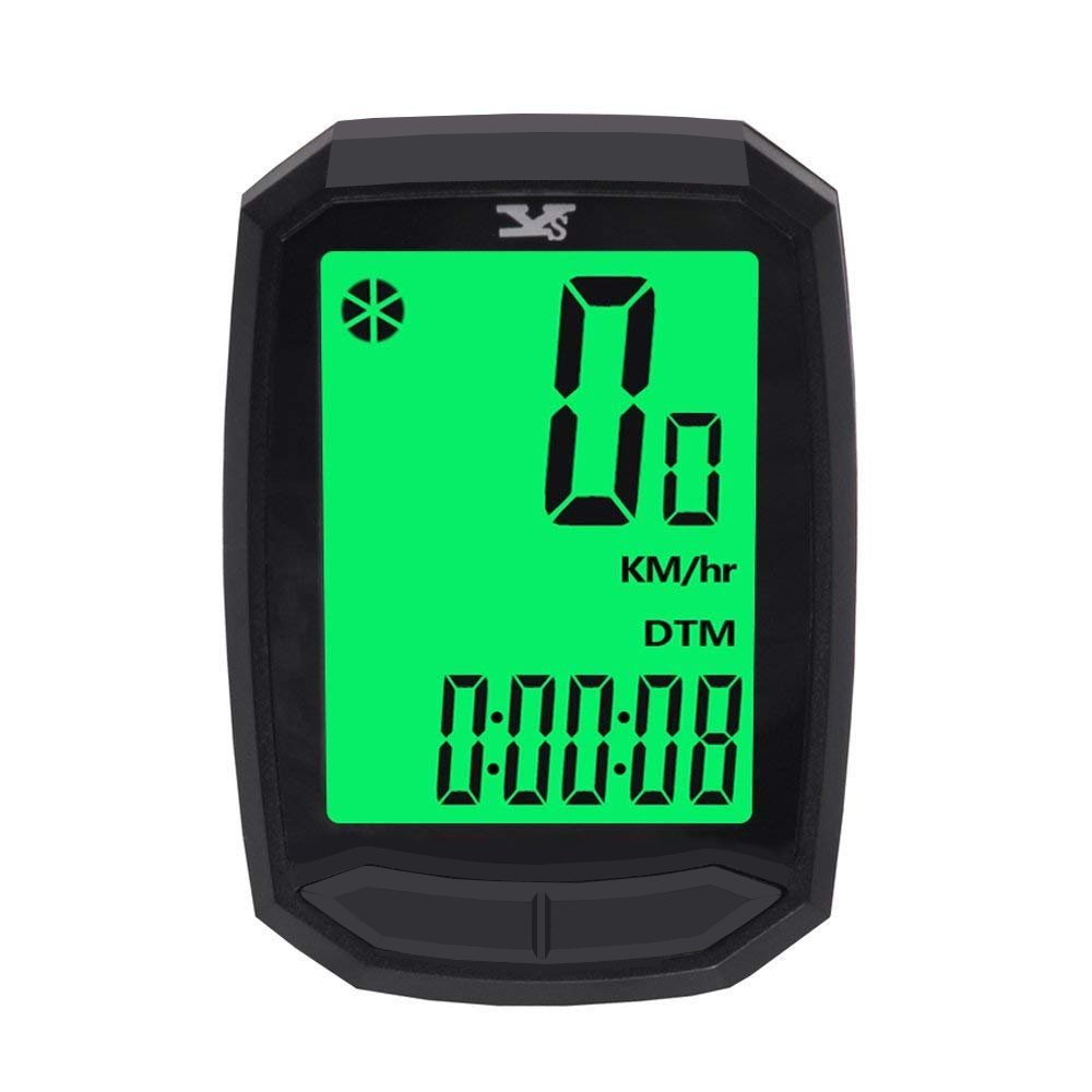 Bicycle Speedometer and Odometer Wireless Bike Cycling Computer with backlight (Wireless)