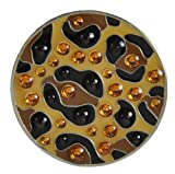 Navika Leopard Swarovski Crystal Ball Marker with Hat Clip