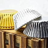 ROSENICE Cupcake Liners Aluminum Foil Cups Cake