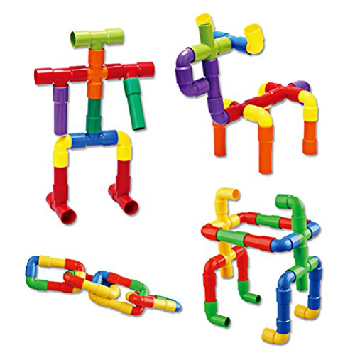 IYSHOUGONG 1 Set Plastic DIY Assembling Water Pipe Building Blocks Toy Kids Tunnel Block Model Toy Children Brain Training Toy Early Educational ()