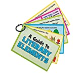 Bargain World Literary Elements Cards on a Ring (With Sticky Notes)