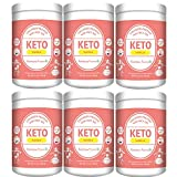 Keto Protein Powder with MCT Oil:Collagen Peptides Grass-fed Low Carb Keto Drink Supplement 11.4oz/326.2 (6)
