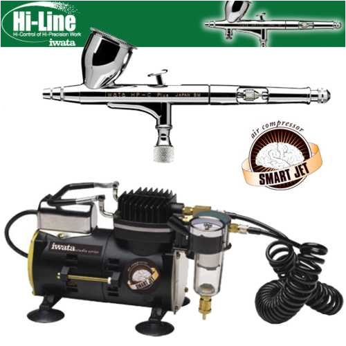Iwata Smart Jet Compressor (Iwata High Performance Plus HP-C Plus Airbrushing System with Smart Jet Air Compressor)
